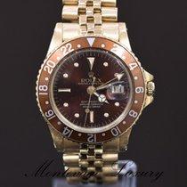 Rolex GMT-Master Geelgoud 40mm Zwart Geen cijfers