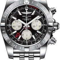 Breitling Chronomat 44 GMT Steel 44mm Black No numerals