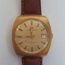 Hamilton Yellow gold Manual winding Gold No numerals 34mm pre-owned