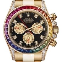 Rolex Daytona, Aftermarket Rainbow 116528 Yellow Gold, Dia