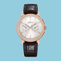 Zenith Elite Chronograph Classic Roségold 42mm Silber Keine Ziffern Deutschland