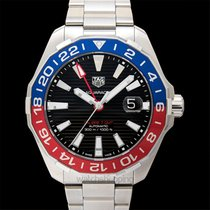 TAG Heuer Calibre 7 Automatic GMT Black Steel 43mm - WAY201F.B...
