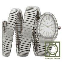 Bulgari Serpenti Steel 35mm Silver Roman numerals