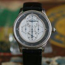 Jaquet-Droz Chronograph 43mm Automatik gebraucht Weiß