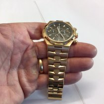 Vacheron Constantin Rose gold Automatic Black 42mm pre-owned Overseas Chronograph