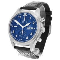 IWC Pilot Spitfire Chronograph Staal 42mm Blauw