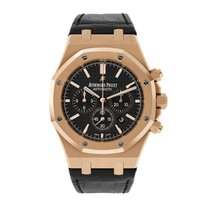 Audemars Piguet Royal Oak Chronograph pre-owned 41mm Black Chronograph Date Leather