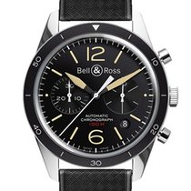Bell & Ross BRV126-ST-HER/SRB Steel 2019 Vintage 43mm new United States of America, New Jersey, Princeton