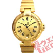 Alfred Dunhill Yellow gold Quartz Gold 32mm pre-owned