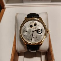 IWC Yellow gold Automatic White Arabic numerals 47mm pre-owned Portuguese Perpetual Calendar