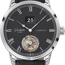 Glashütte Original Senator Tourbillon Weißgold 42mm Grau
