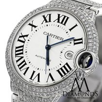 Cartier Diamonds Ballon Bleu 42mm W69012z4 Roman Numeral...