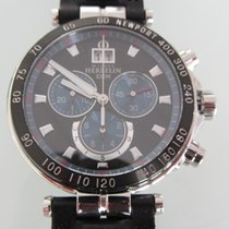 Michel Herbelin Newport Yacht Club Steel 42mm Black No numerals