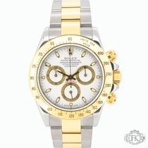 Rolex Daytona Steel and Gold | White Dial Gold Sub Dials | 116523