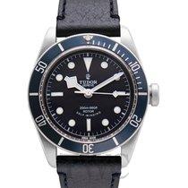 튜더 (Tudor) Heritage Black Bay Blue Steel/Leather 41mm - 79220B