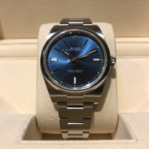 Rolex Oyster Perpetual 39mm Steel Blue Dial B&P
