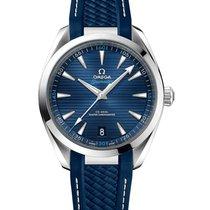 Omega Steel Automatic Blue No numerals 41mm new Seamaster Aqua Terra