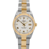 Rolex Oyster Perpetual Date, Ref # 15233, Two-Tone w/ 12 m...