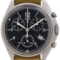 CWC Chronograph 38mm 1990 pre-owned Black