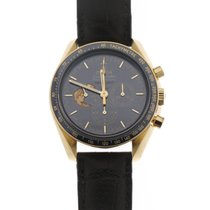Omega Oro amarillo Cuerda manual Azul Sin cifras 42mm nuevo Speedmaster Professional Moonwatch