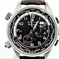 Zenith El Primero Doublematic Steel 45mm Black Arabic numerals
