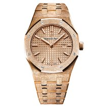Audemars Piguet Royal Oak Rose Frosted Gold Quartz Rose Gold...