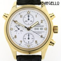 IWC Geelgoud Automatisch 42mm tweedehands Pilot Double Chronograph