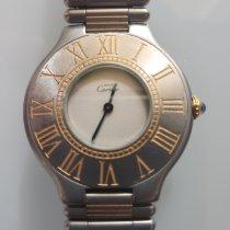 Cartier 21 Must de Cartier Gold/Steel 24mm White No numerals United States of America, California, Newport Coast
