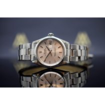 Rolex Oyster Perpetual Date Aço 34mm Prata