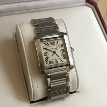 Cartier Tank Française 2302 Very good Steel 28mm Automatic