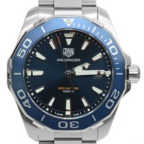 TAG Heuer Aquaracer 300M Steel 41mm Blue No numerals