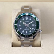 Seiko Prospex Steel 45mm Green No numerals