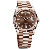 Rolex Red gold Automatic Brown No numerals 40mm new Day-Date 40