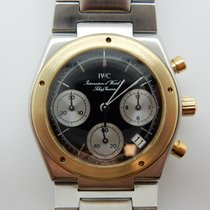 IWC Ingenieur Chronograph Zlato/Zeljezo 30mm Crn Bez brojeva
