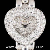 Chopard 18k White Gold Diamond Set Heart Shaped Ladies Watch 5351