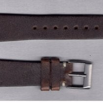 Vintage Dark Brown Leather Strap 20/16 For Rolex/Omega/Longine...
