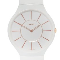 Rado True Thinline White Ceramic Quartz Ladies Watch – R27957109