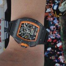 리차드밀 (Richard Mille) RM 011 Titanium DLC Orange Limited Edition