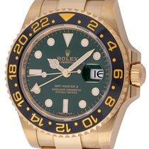 Rolex : GMT-Master II :  116718 LN :  18k Gold : green dial