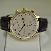 IWC Yellow gold Automatic White Arabic numerals 40.9mm pre-owned Portuguese Chronograph