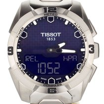 Tissot Titanium Chronograph Black 45mm pre-owned T-Touch Expert Solar