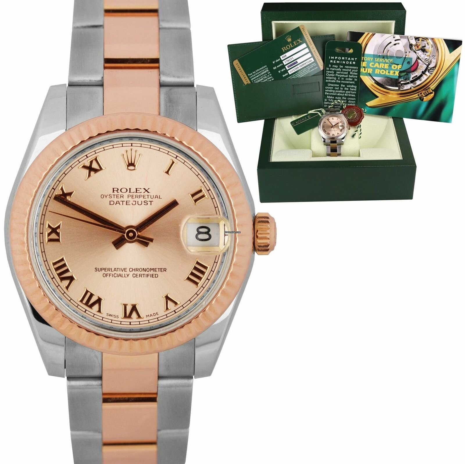 bbeb92ee6d7 Rolex 2010 Ladies Rolex DateJust 31 178271 Rose Gold Two Tone... for $8,293  for sale from a Trusted Seller on Chrono24