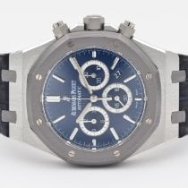 Audemars Piguet Royal Oak Chronograph Platinum 41mm Blue No numerals