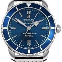 Breitling Superocean Héritage II 42 gebraucht 42mm Blau Datum Stahl