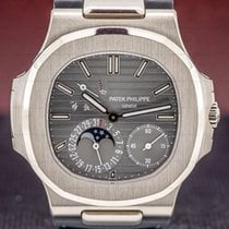 Patek Philippe White gold Automatic 43mm pre-owned Nautilus