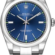 Rolex Steel Automatic Blue No numerals 39mm new Oyster Perpetual 39
