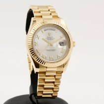 Rolex Day-Date II Yellow gold 41mm Silver Roman numerals
