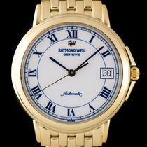 Raymond Weil Gold White Roman Dial Gents Dress Watch