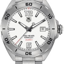TAG Heuer Formula 1 Calibre 5 pre-owned 41mm White Date Steel