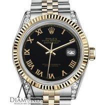Rolex Lady-Datejust Acero y oro 26mm Negro Romanos
